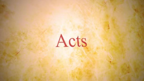 Knihy nového zákona bible série - akty