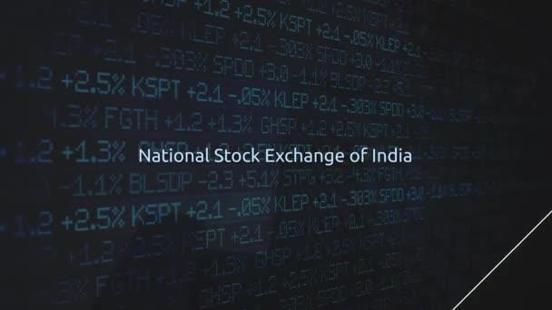 Firemní akciového trhu burzy animovaný seriál - národní burza Indie