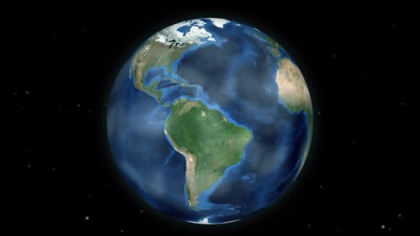 Zooming through space to a location in Central America animation - Caribbean Sea - Image Courtesy of NASA