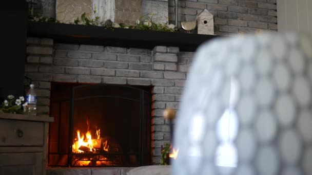 Teplé oheň plane v moderní moderní obývací pokoj