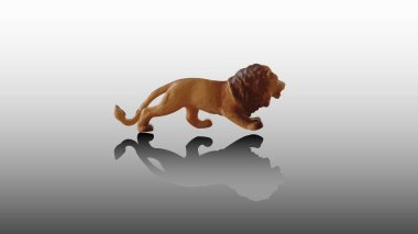 Mockup of lion toy. Stock Illustration