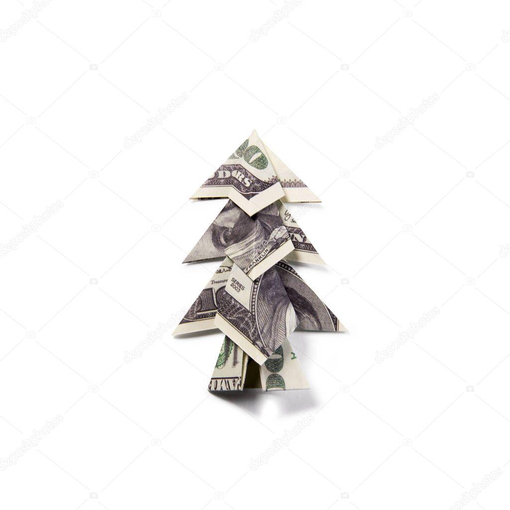 How to fold a Money Origami Xmas Tree - YouTube | 1024x1024
