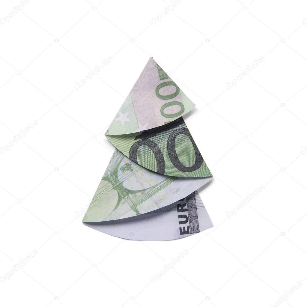 origami weihnachtsbaum geldschein europ ische weihnachtstraditionen. Black Bedroom Furniture Sets. Home Design Ideas