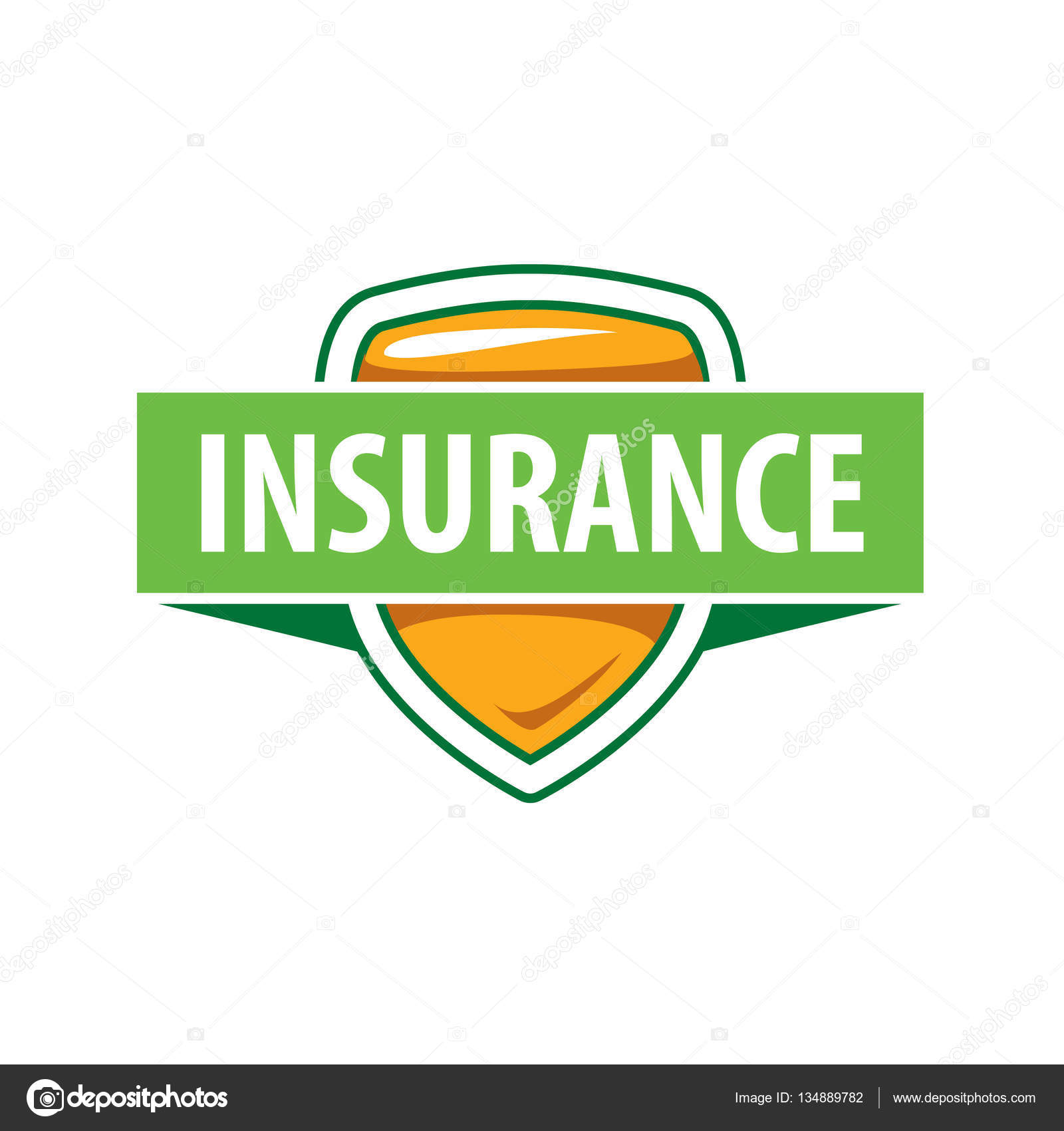 Vector logo template for an insurance company — Stock Vector ...