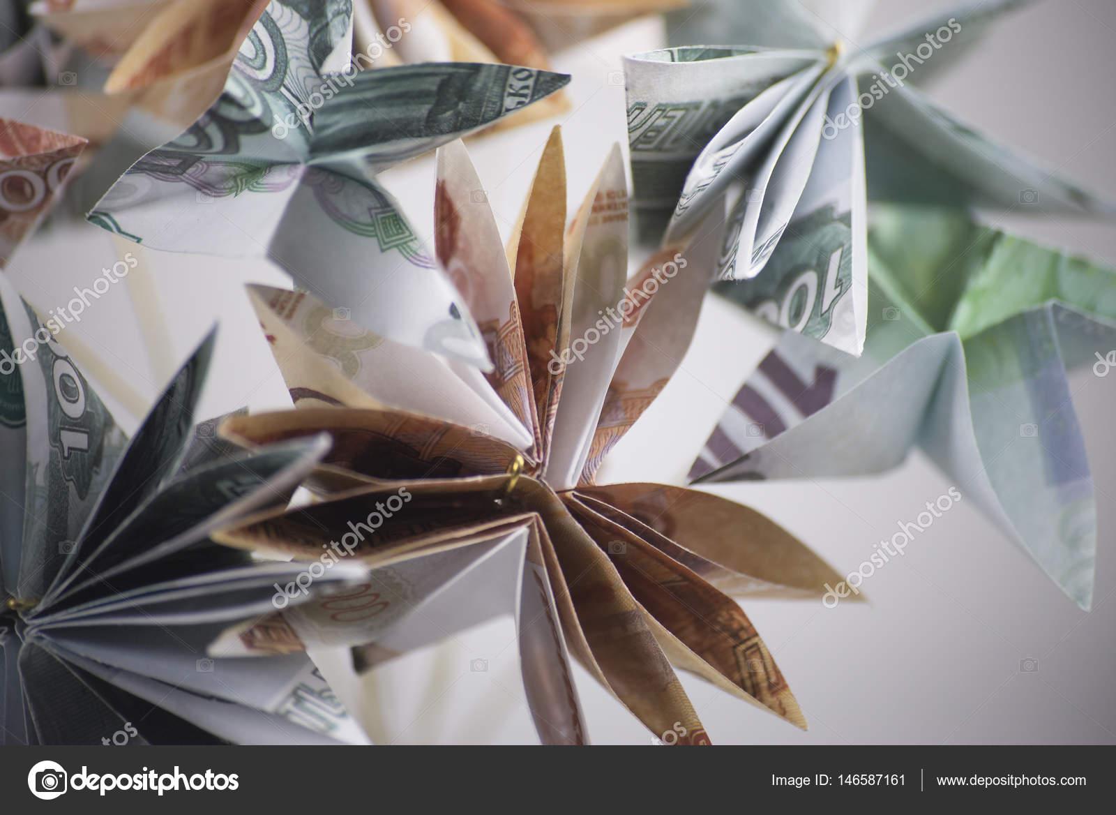 Flowers Origami Banknotes Stock Photo Artbutenkov 146587161