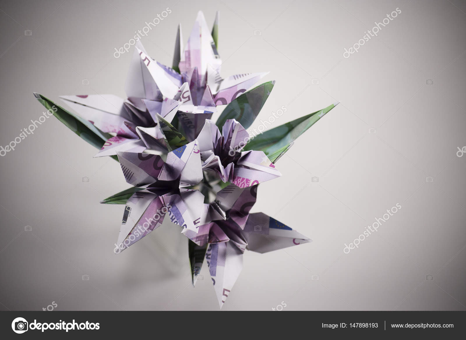 Flowers Origami Banknotes Stock Photo Artbutenkov 147898193