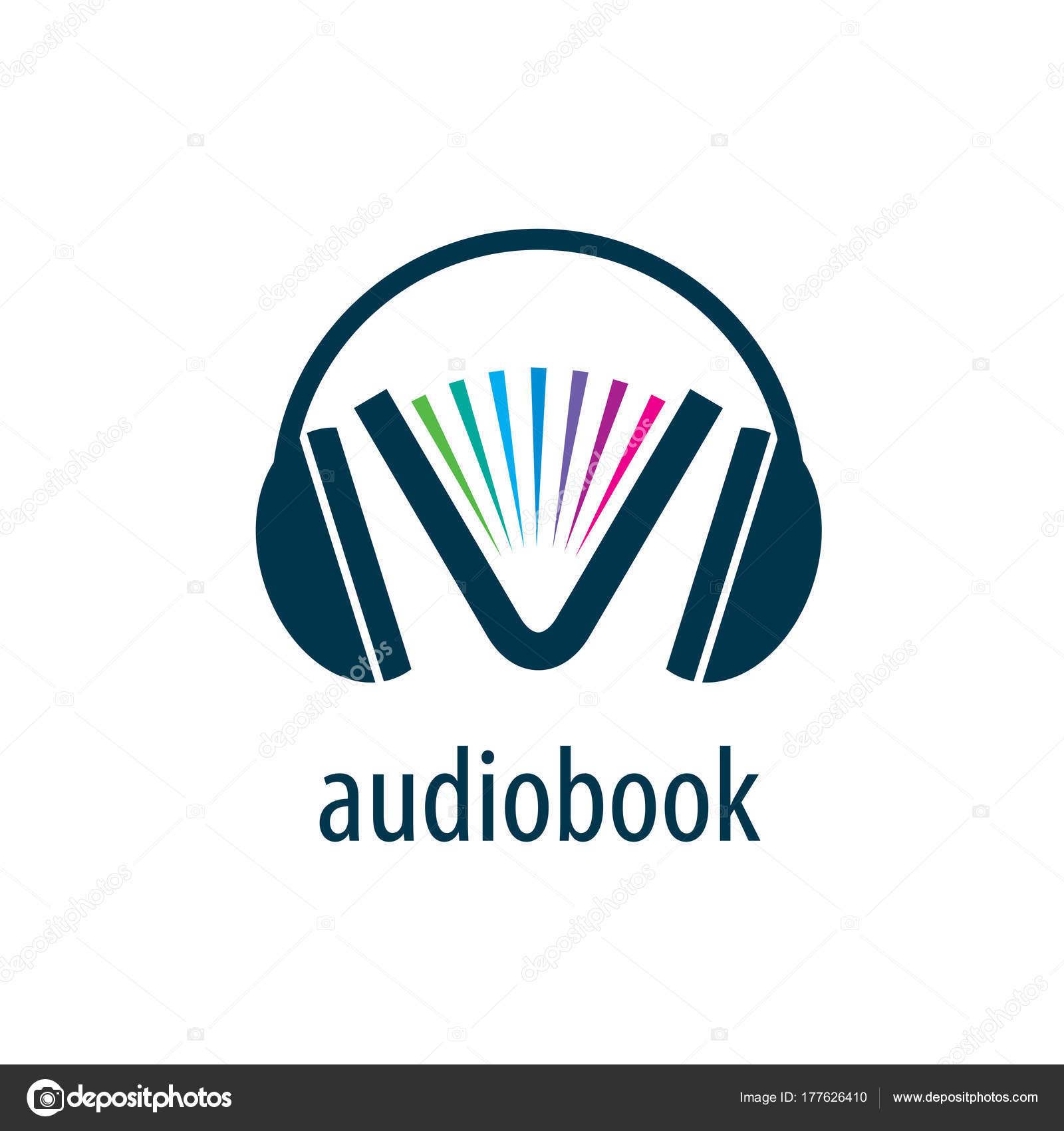audiobook vector logo template stock vector artbutenkov 177626410