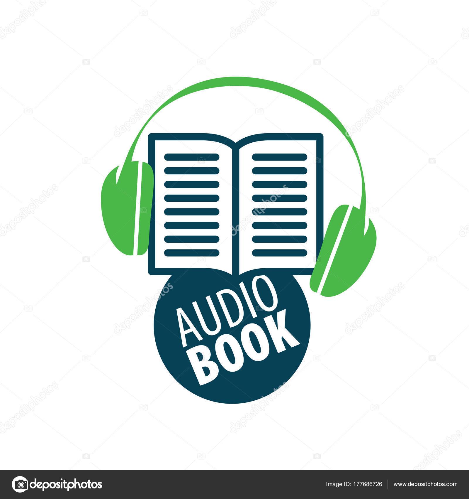 audiobook vector logo template stock vector artbutenkov 177686726