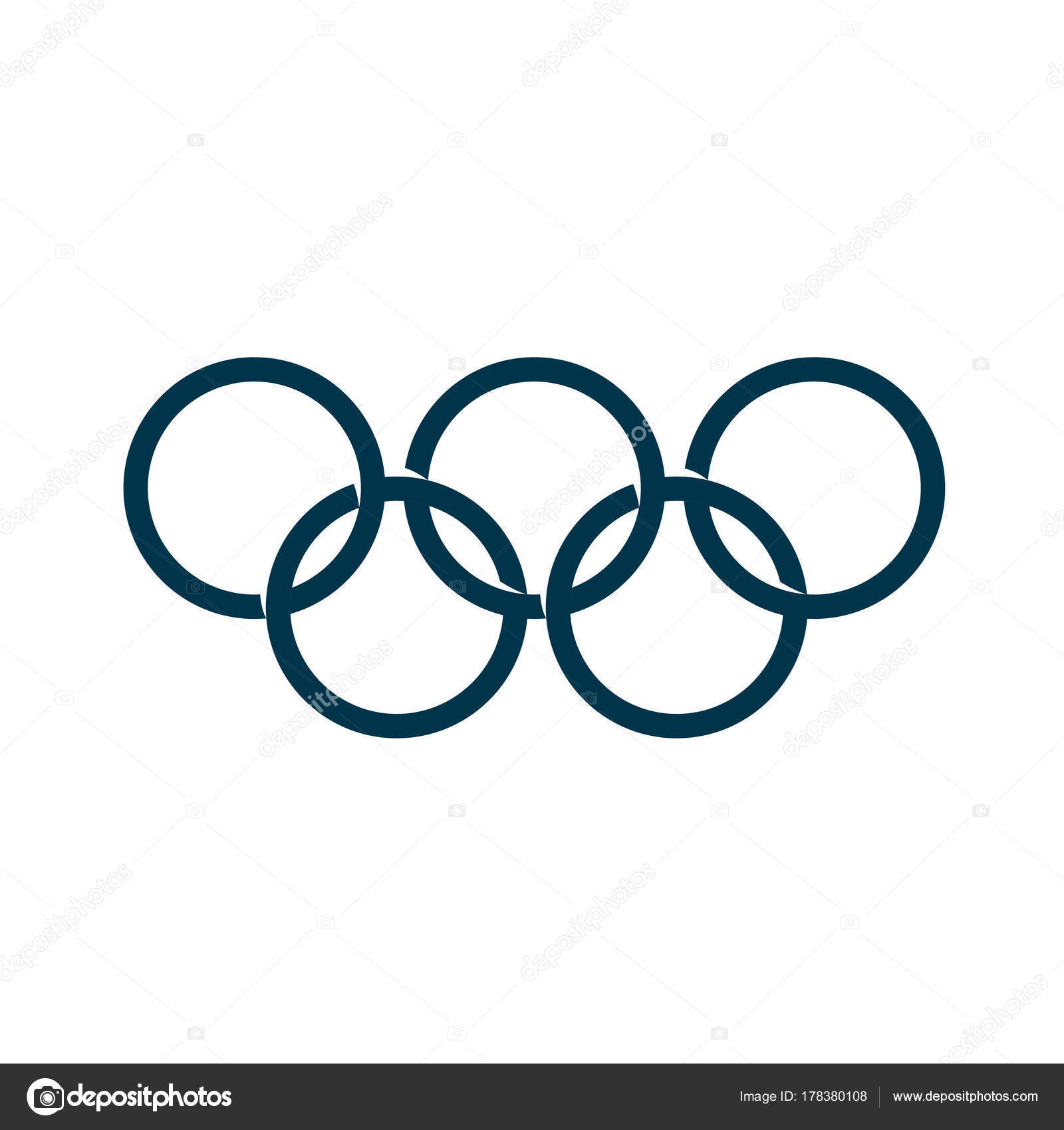 sign olympic games stock vector artbutenkov 178380108 rh depositphotos com olympic ring vector graphic olympic rings vector logo