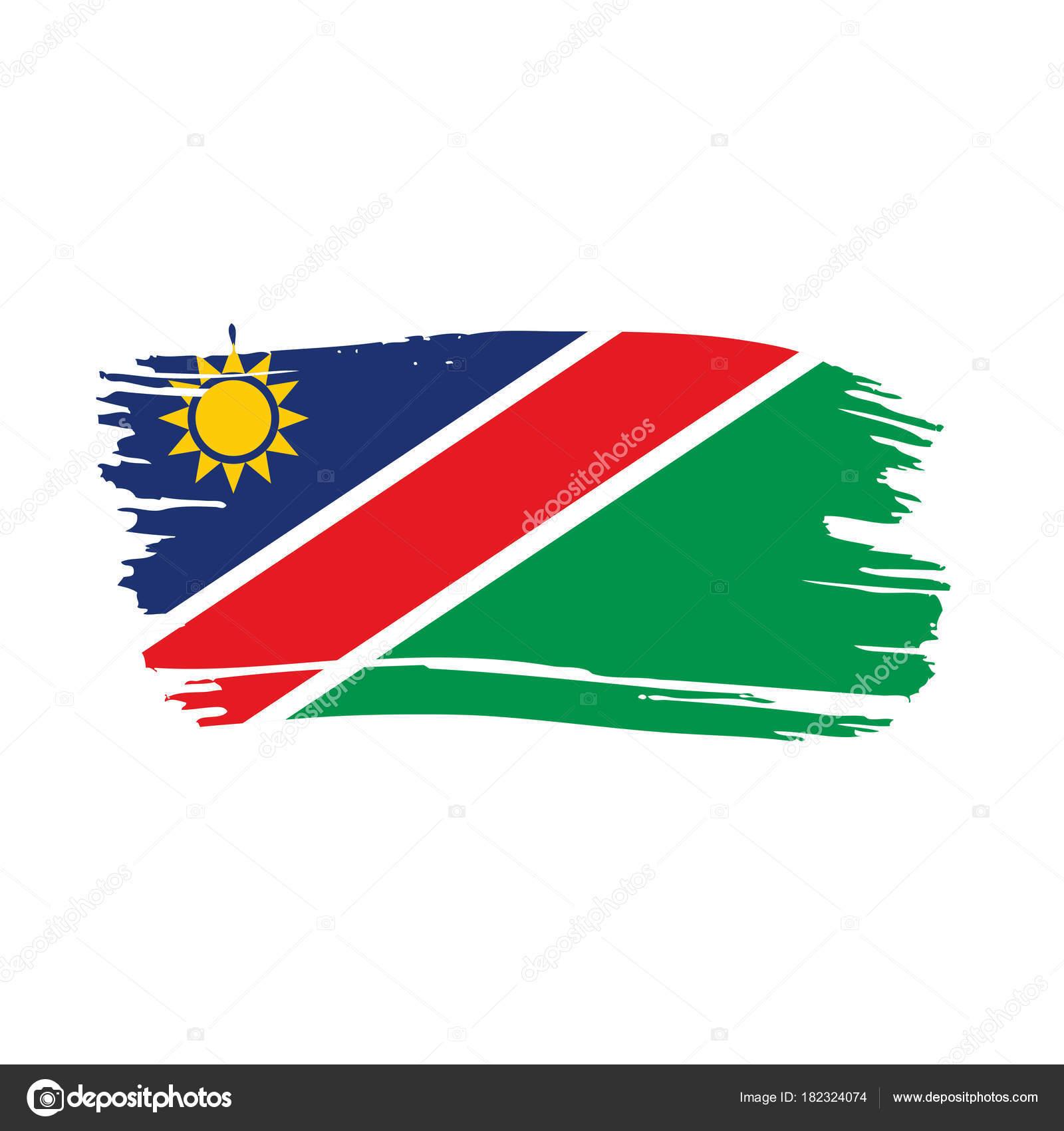 Namibia flag, vector illustration — Stock Vector