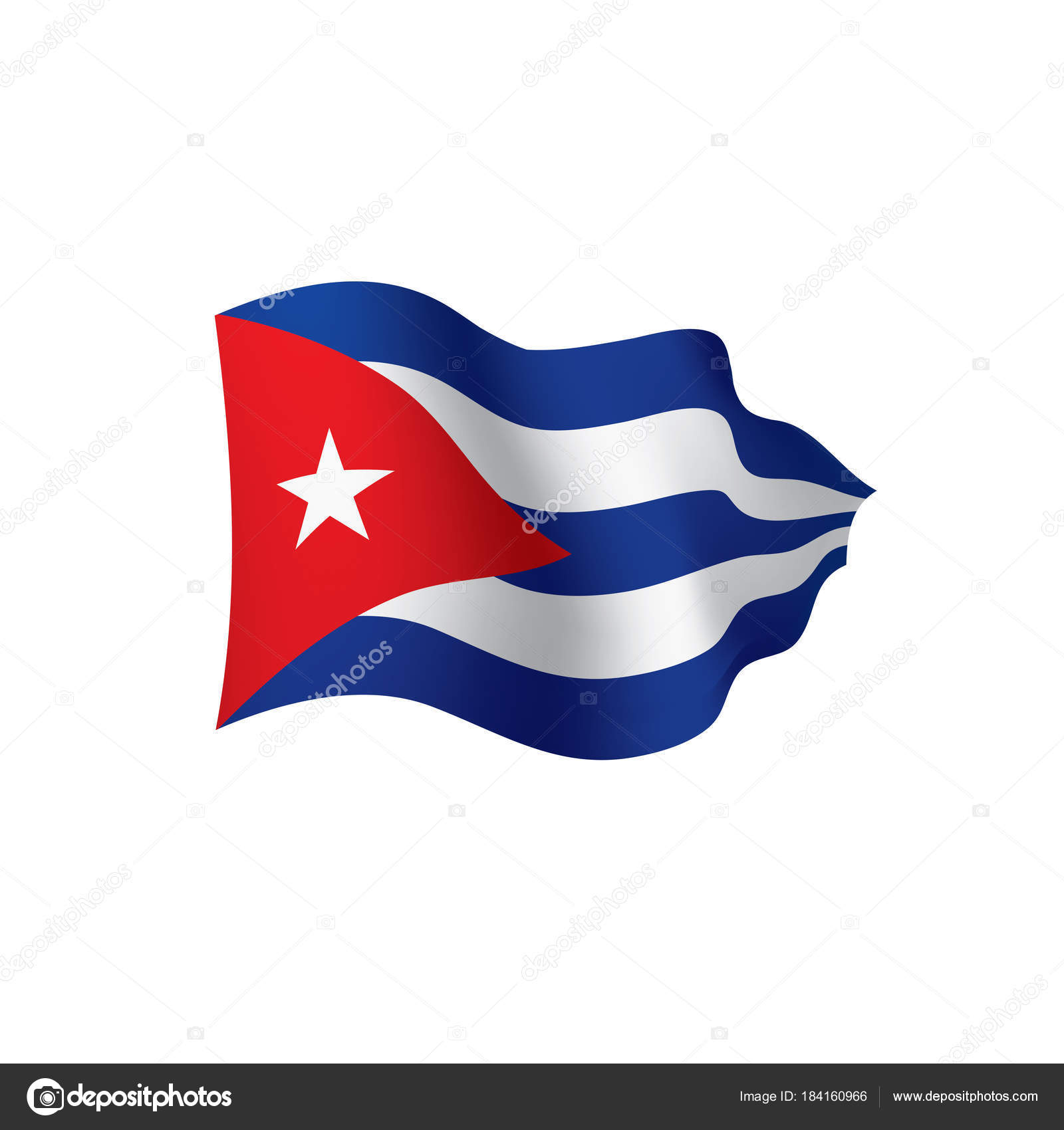 Cuba Flag, Vector Illustration On A White Background U2014 Vector By Artbutenkov
