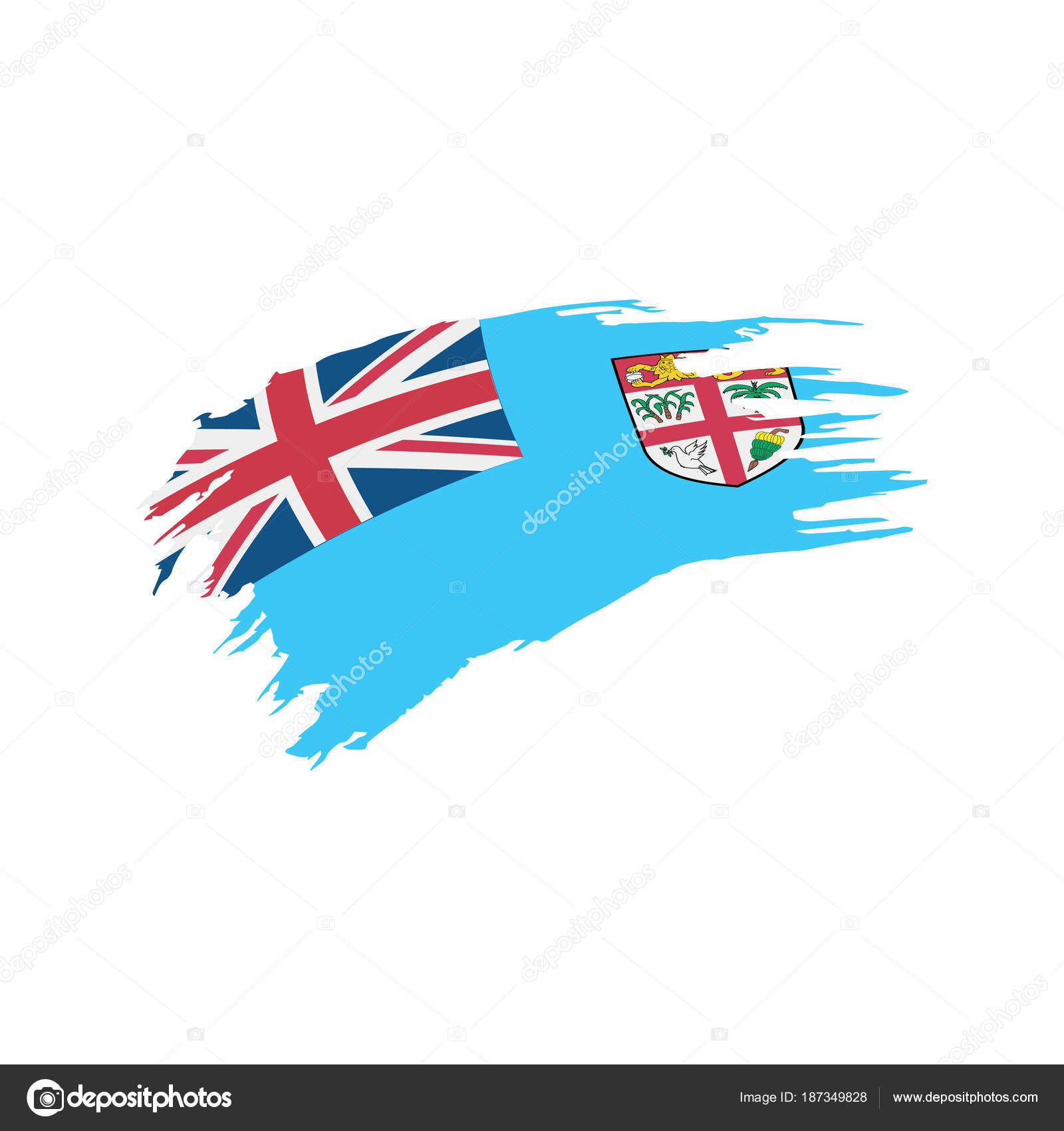 Fiji Flag Vector Illustration Stock Vector C Artbutenkov
