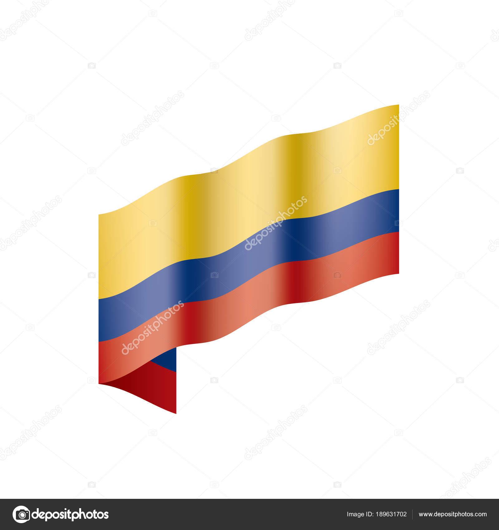 Colombia Flag Vector Illustration Stock Vector Artbutenkov