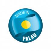 Palau vlajka, vektorové ilustrace na bílém pozadí