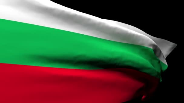 Bulgarias national flag flutters in the wind