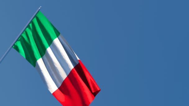 The national flag of Italy is flying in the wind