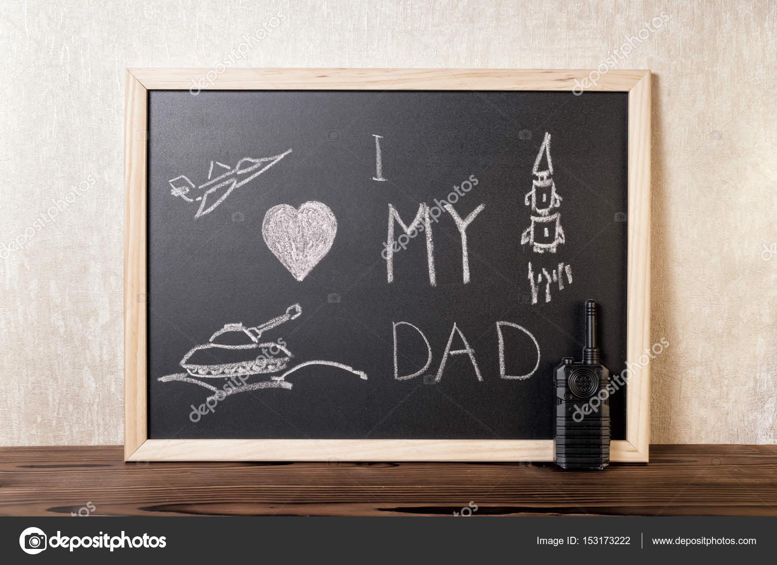 Concept De Fête Des Pères Avec Texte Manuscrit Jaime Mon