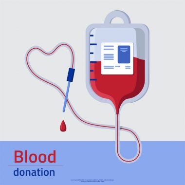 Donate blood concept illustration background. Banner. Vector illustration. icon