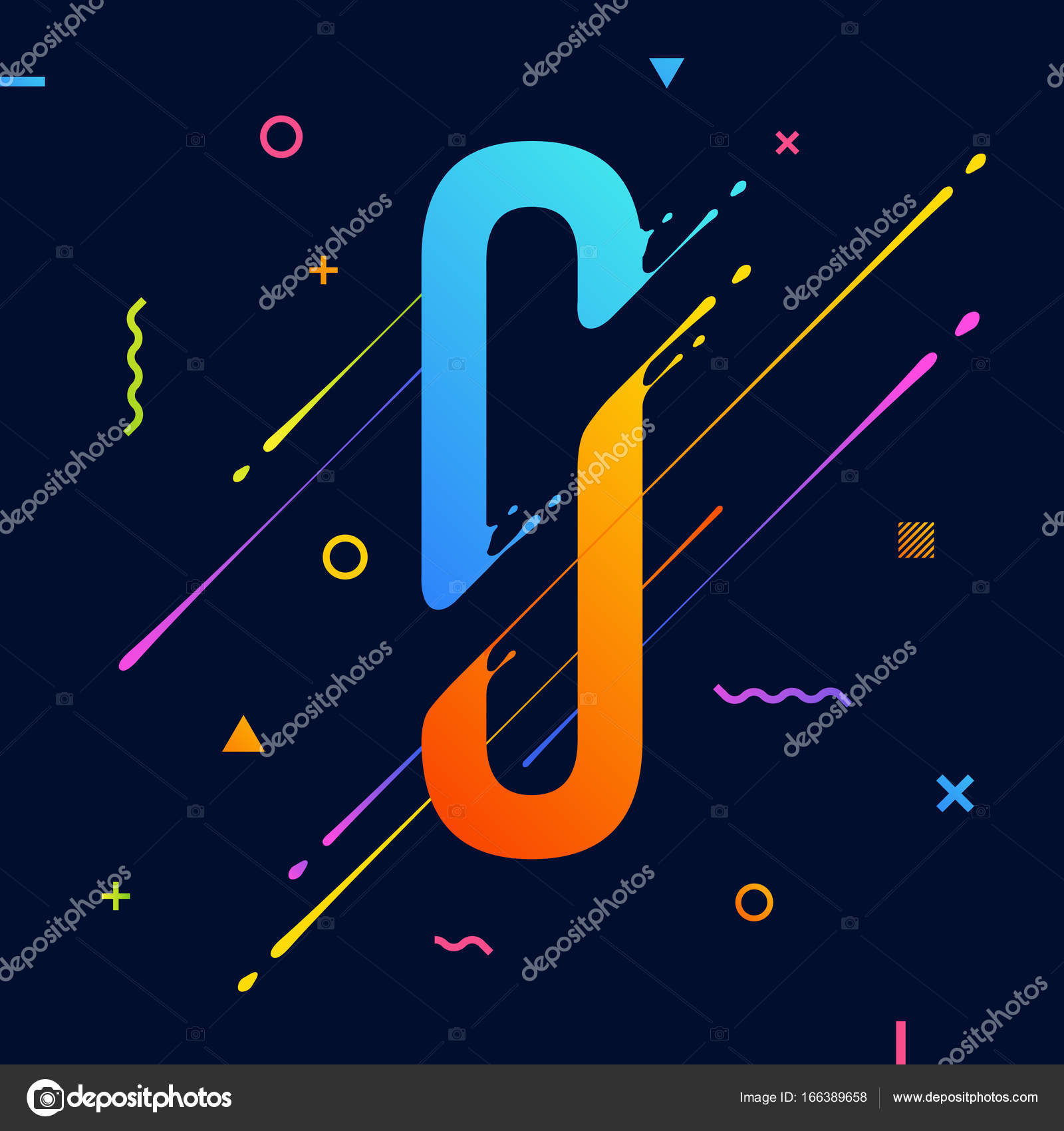 Modern abstract colorful alphabet with minimal design letter o modern abstract colorful alphabet with minimal design letter o abstract background with cool bright biocorpaavc Images