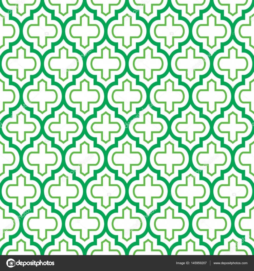 Vector of moroccan tile seamless pattern tile for design tile - Geometric Seamless Pattern Moroccan Tiles Design Green Background Stock Vector 145959207