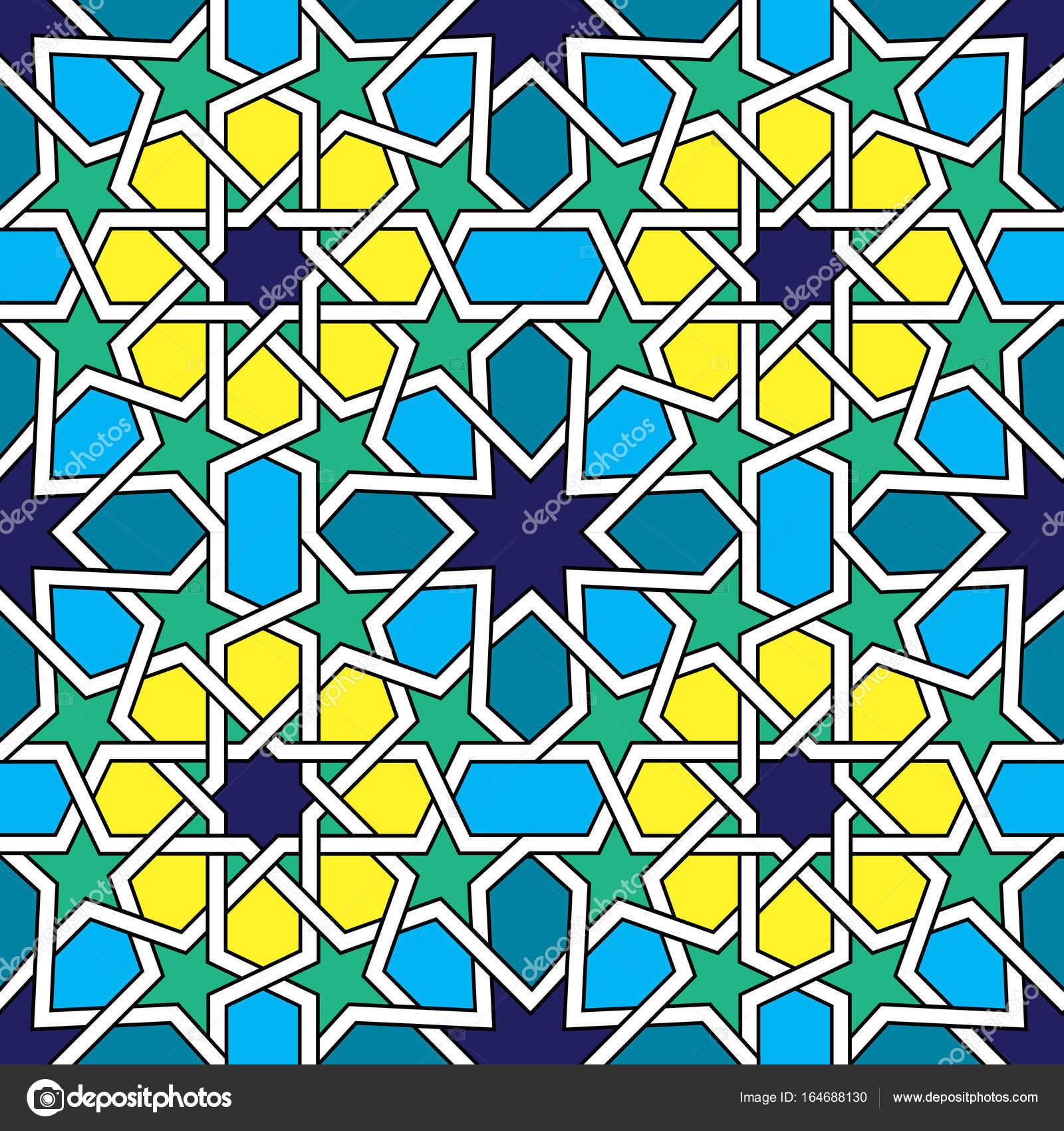 Marokkanische Fliesen Muster Maurischen Nahtloser VektorDesign - Fliesen maurisch