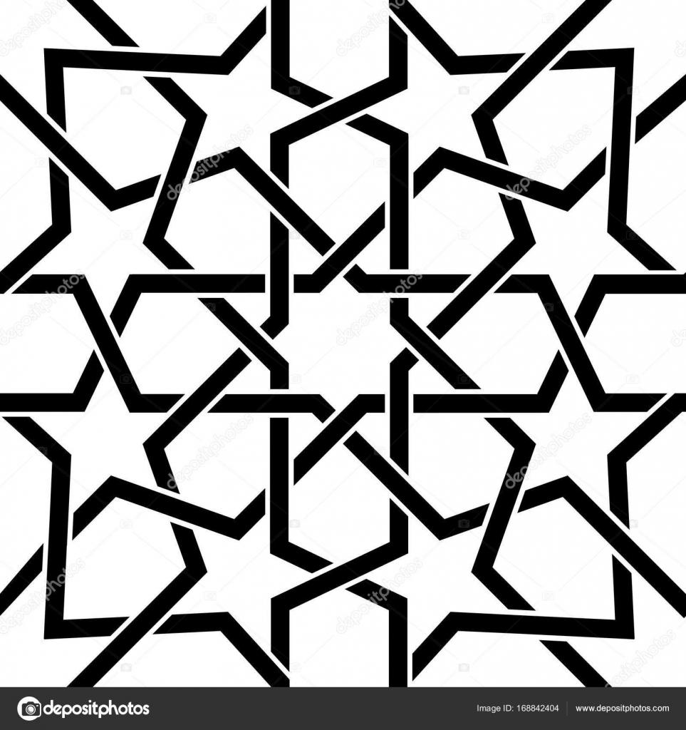 Marokkanische Fliesen-Design in schwarz und weiß, maurischen ...