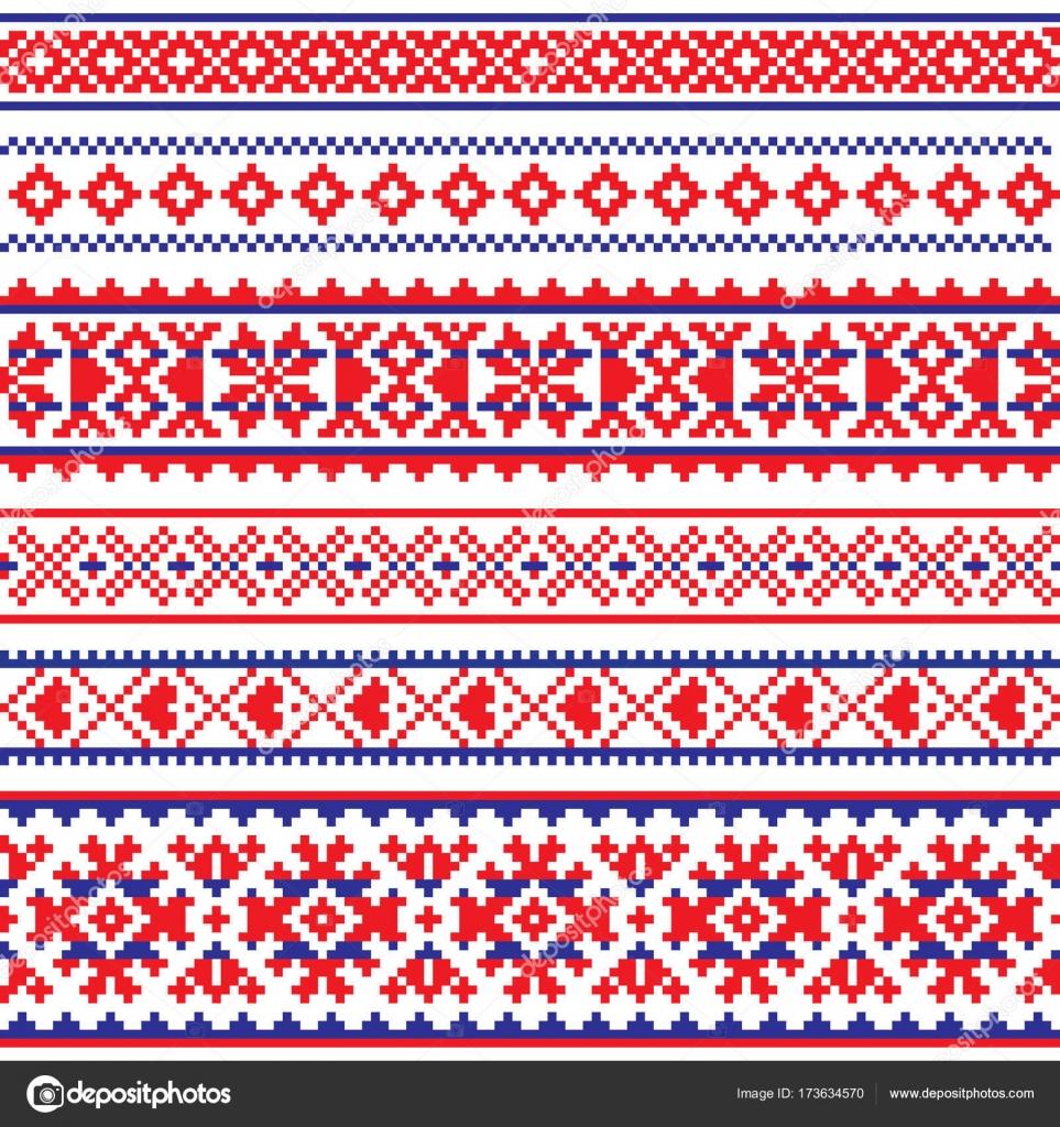 Sami vector de patrones sin fisuras, arte popular de Laponia, punto ...