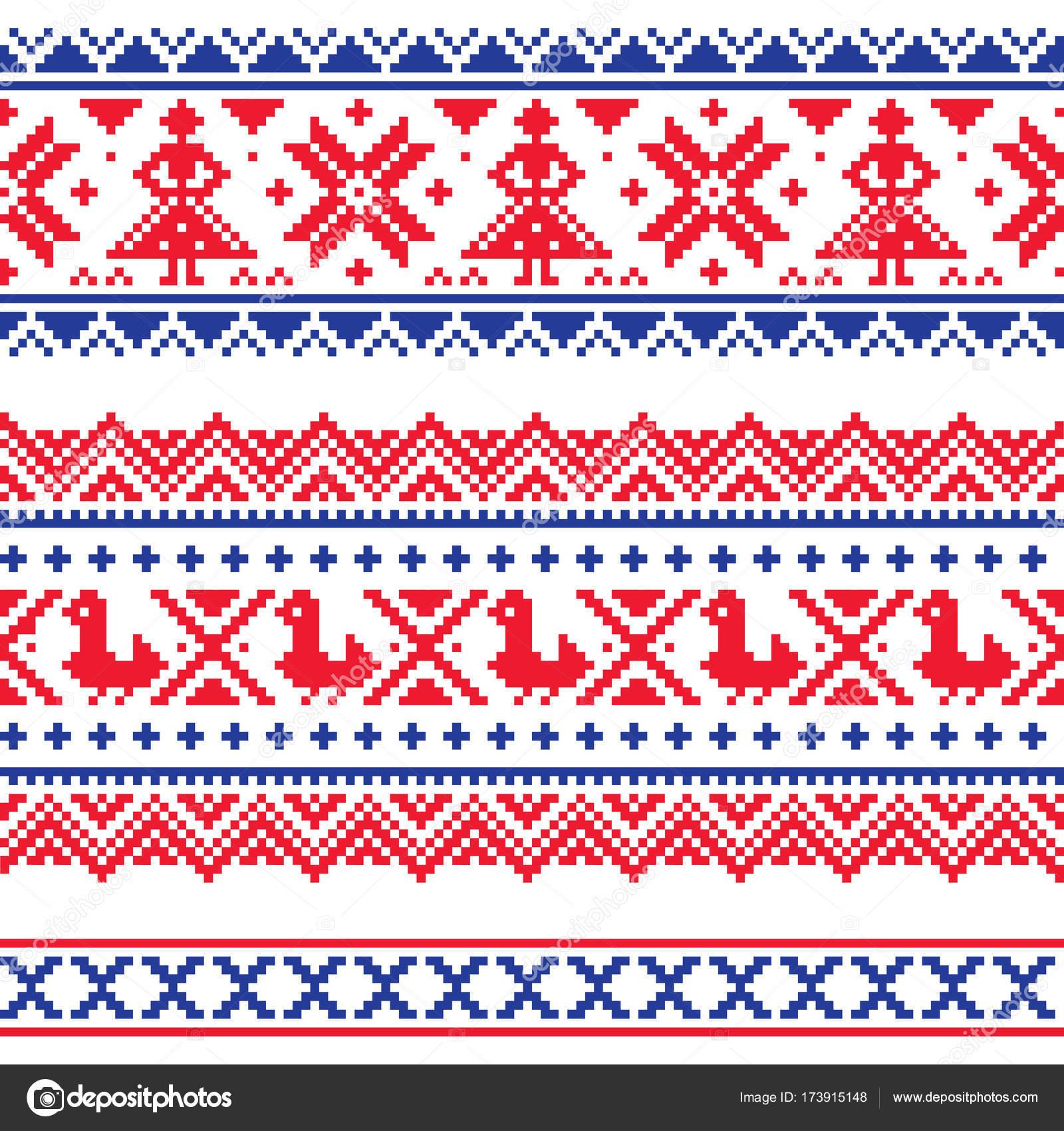 Diseño de Sami venda o belrd vector, Laponia punto de Cruz vector ...