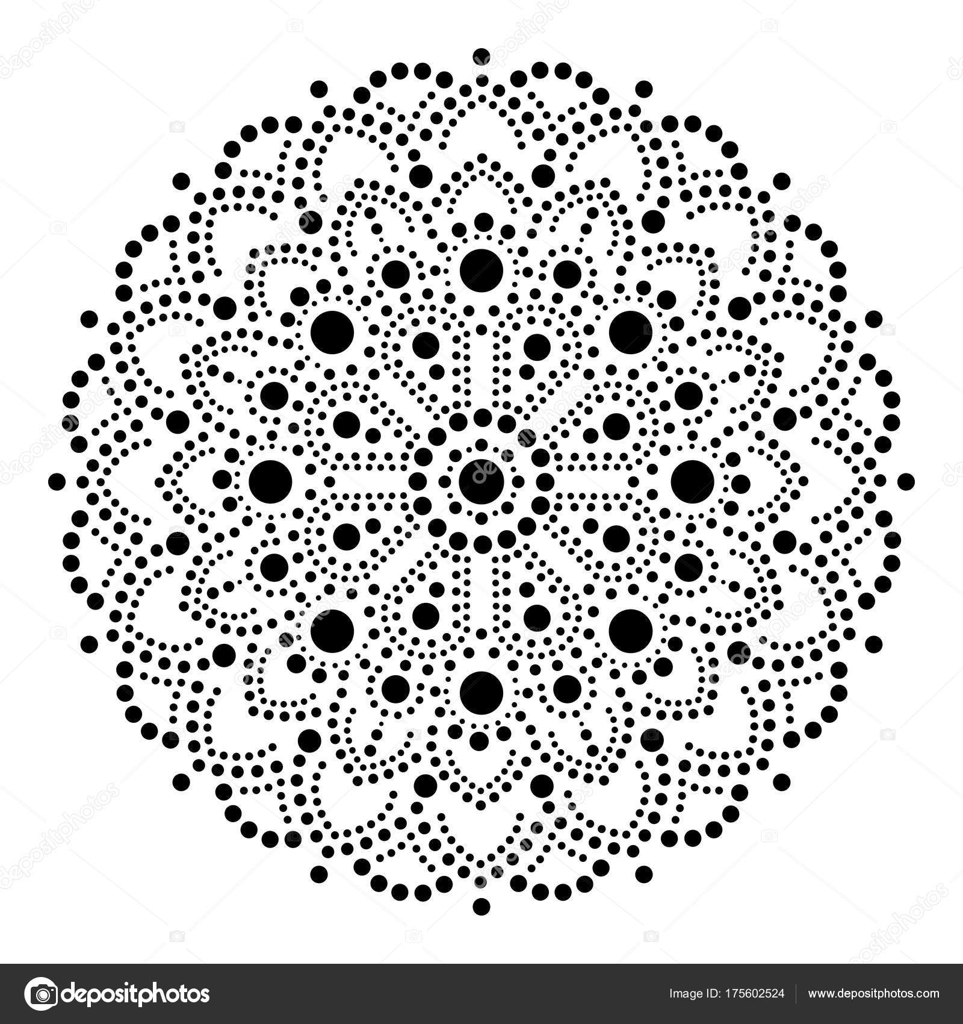 Punto Aborígen Pintura Mandala Diseño Étnico Australiano Gitana ...