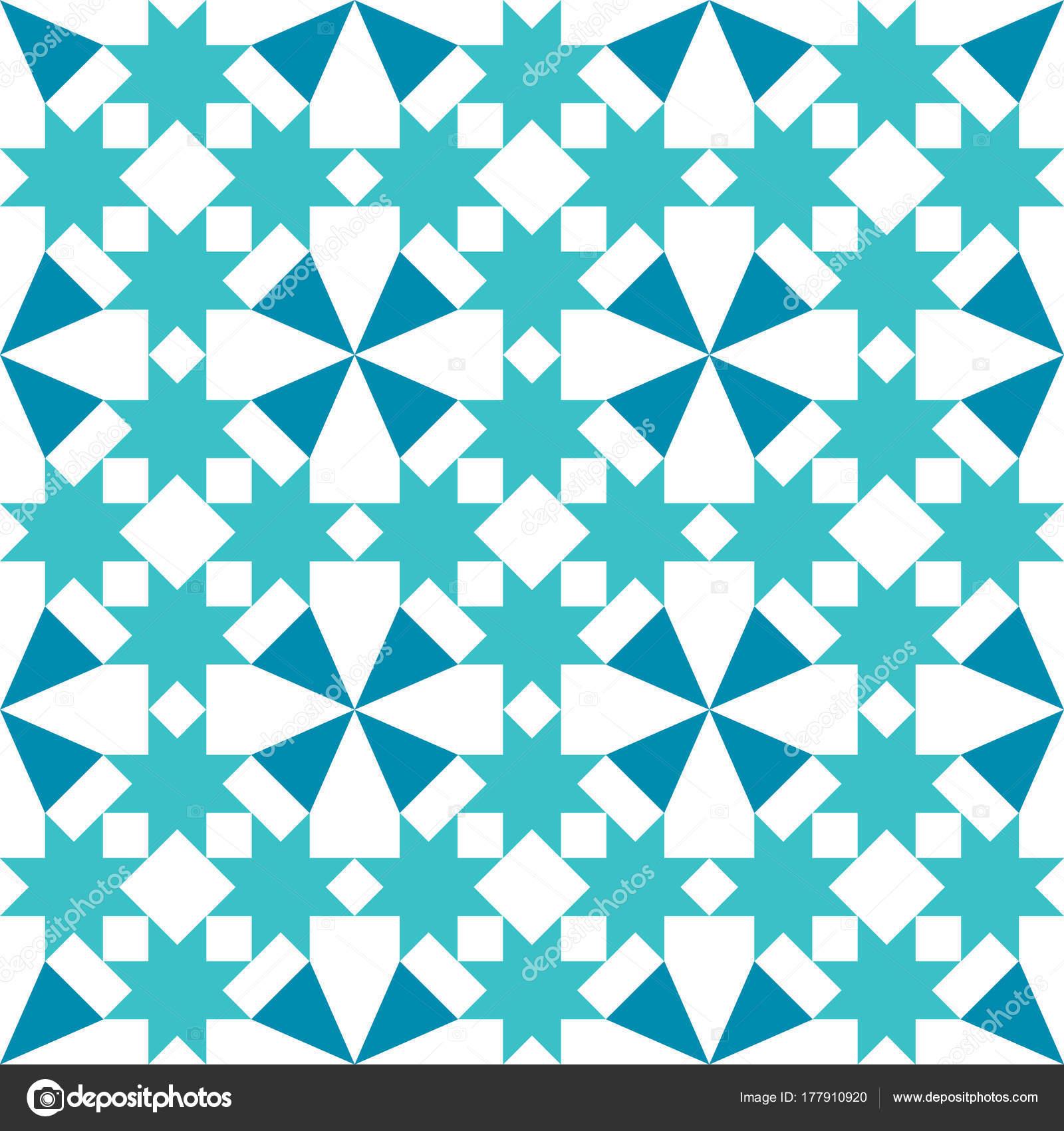 Marokkanische Fliesen Design Geometrische Nahtlose Türkis ...
