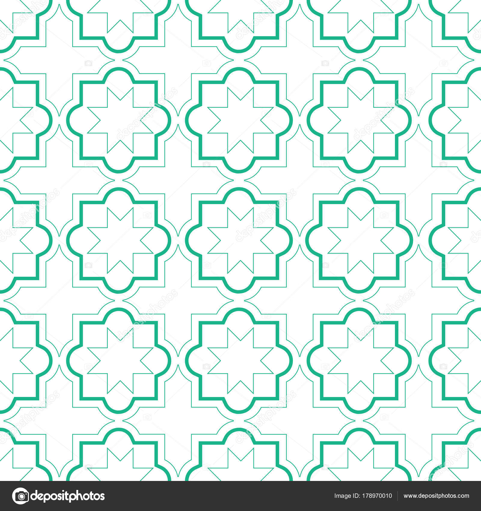 Marokkanische Fliesen Geometrischen Musterdesign Vektor Fliesen ...