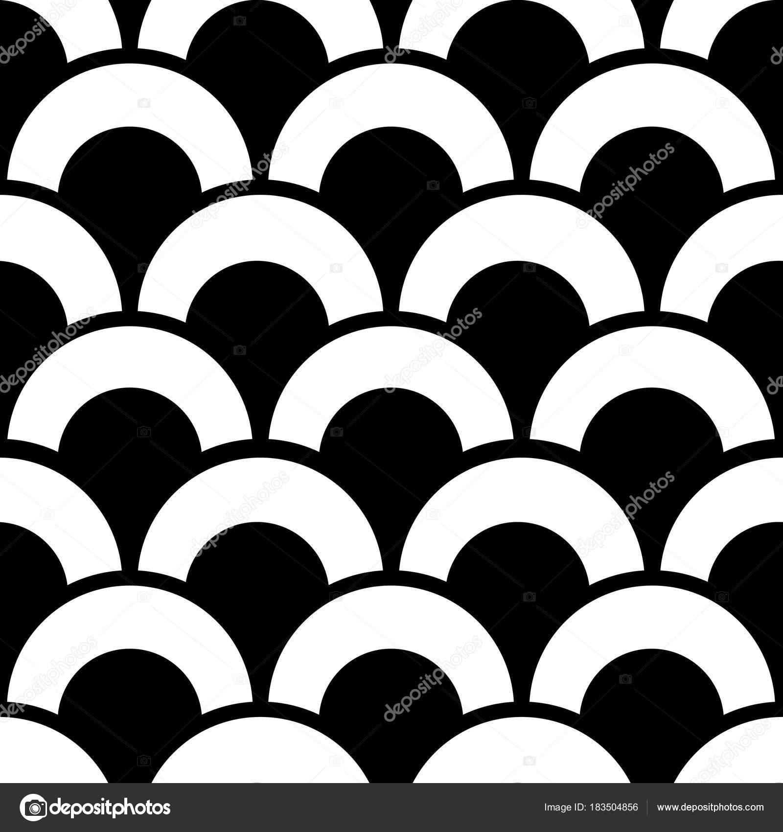 Modern Geometric Seamless Pattern Vector Repetitive Design Black