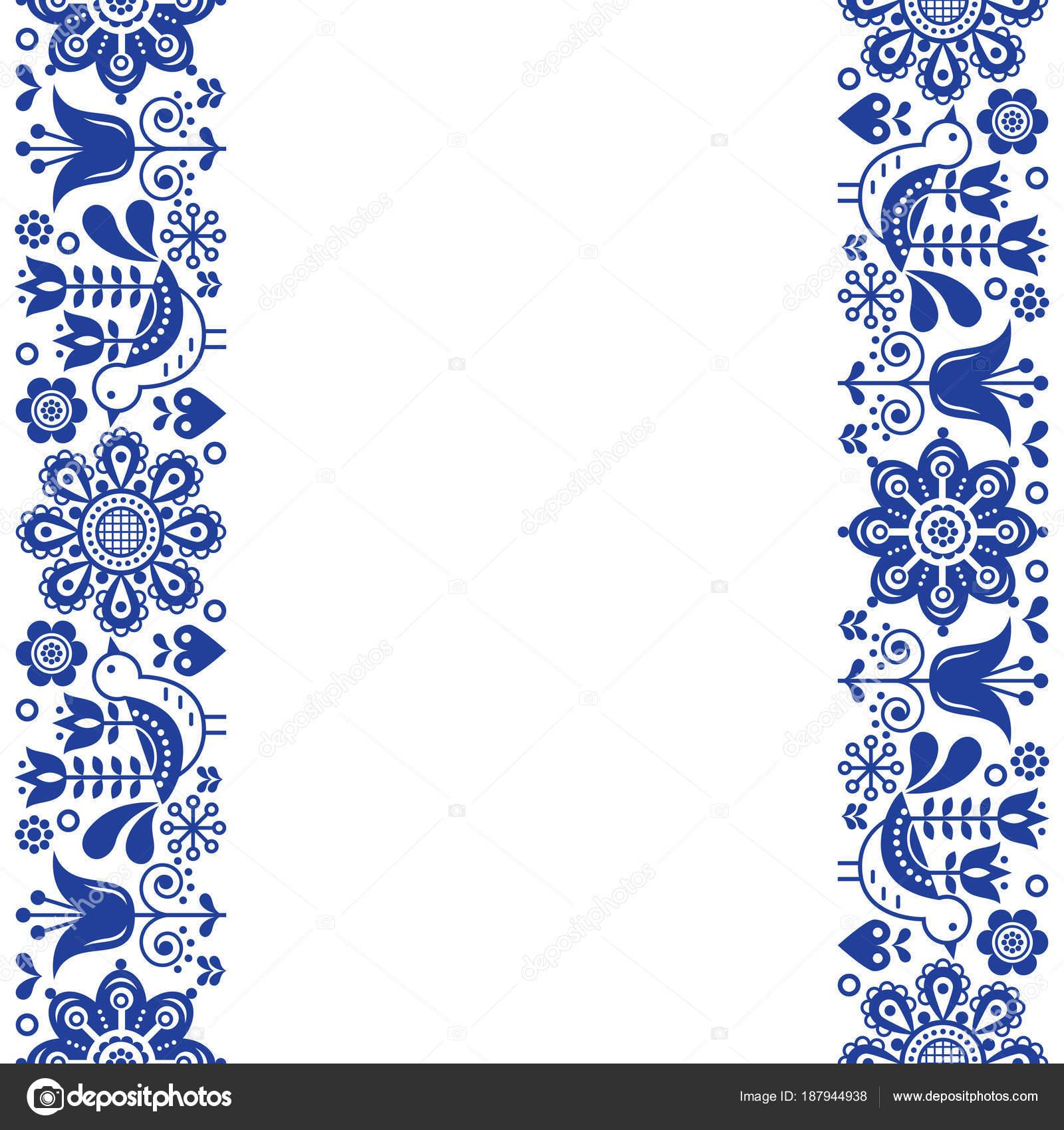Tarjeta Felicitación Escandinavo Diseño Arte Popular Retro Vector ...