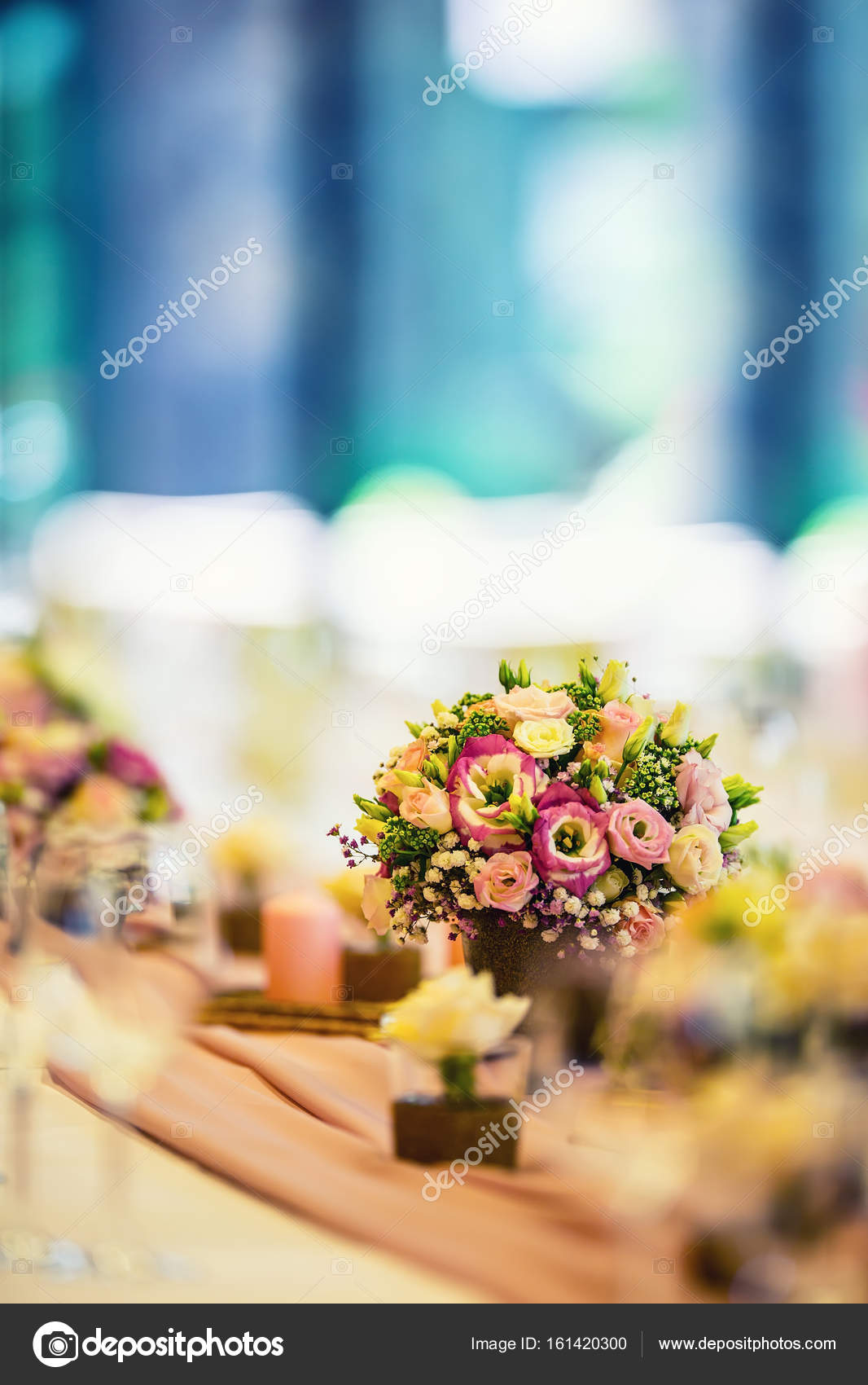 Wedding Table Setting Beautiful Table Set With Flowers And Glass