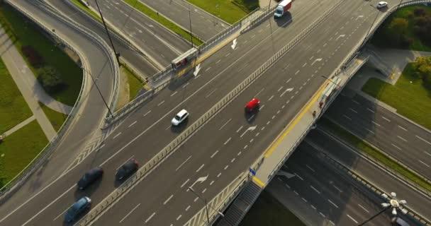 Režie letecký snímek dálnice. Žádný pohyb