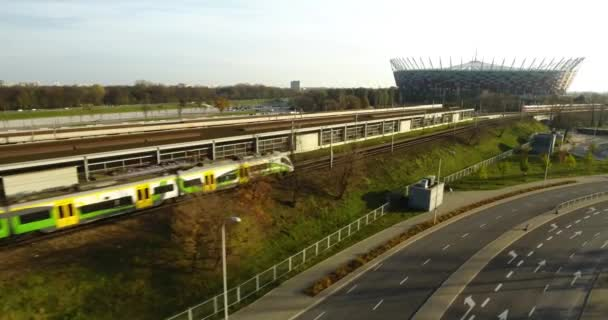 Side Shot Of A Modern Train Passing Train Station