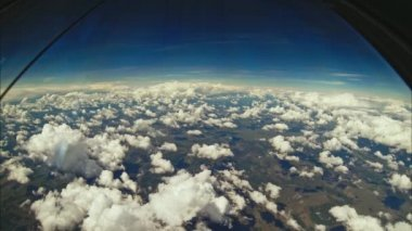 view of the clouds flight from the cockpit