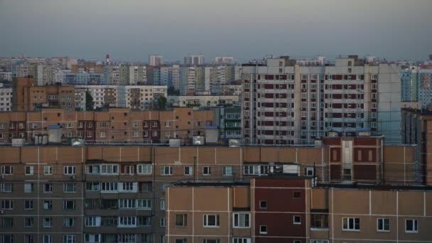 Panorama domů v obytné čtvrti v Moskvě