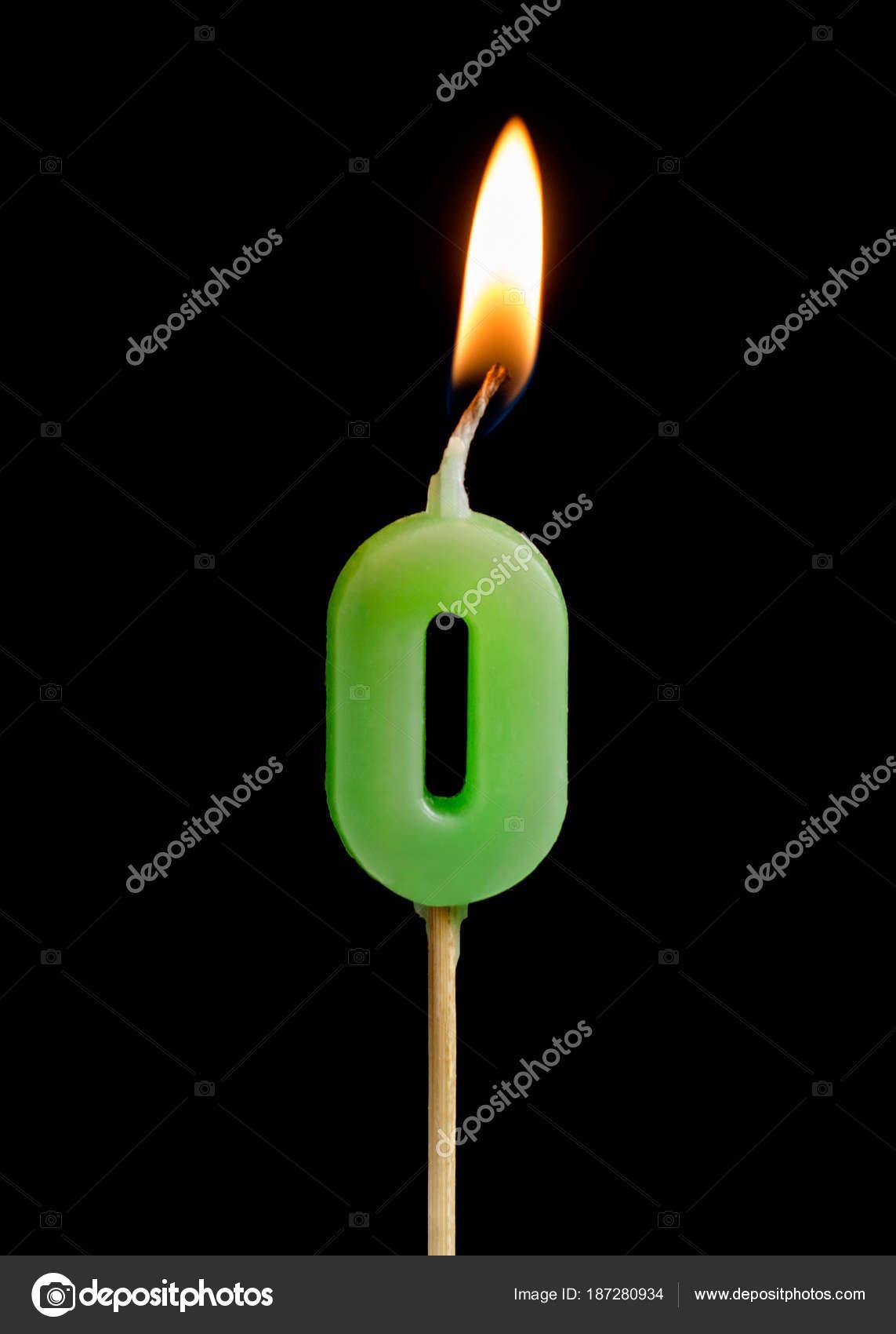 Brennende Kerze In Form Von Null Zahlen Zahlen Termine Fur Kuchen