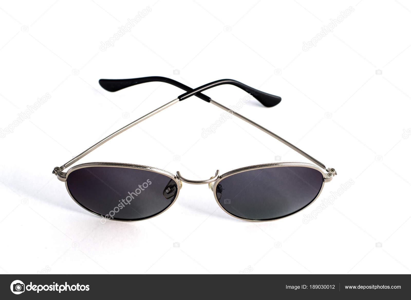994e923b564a61 Trendige Sonnenbrille in Form von Tropfen isolierten auf weißen Hintergrund  — Stockfoto