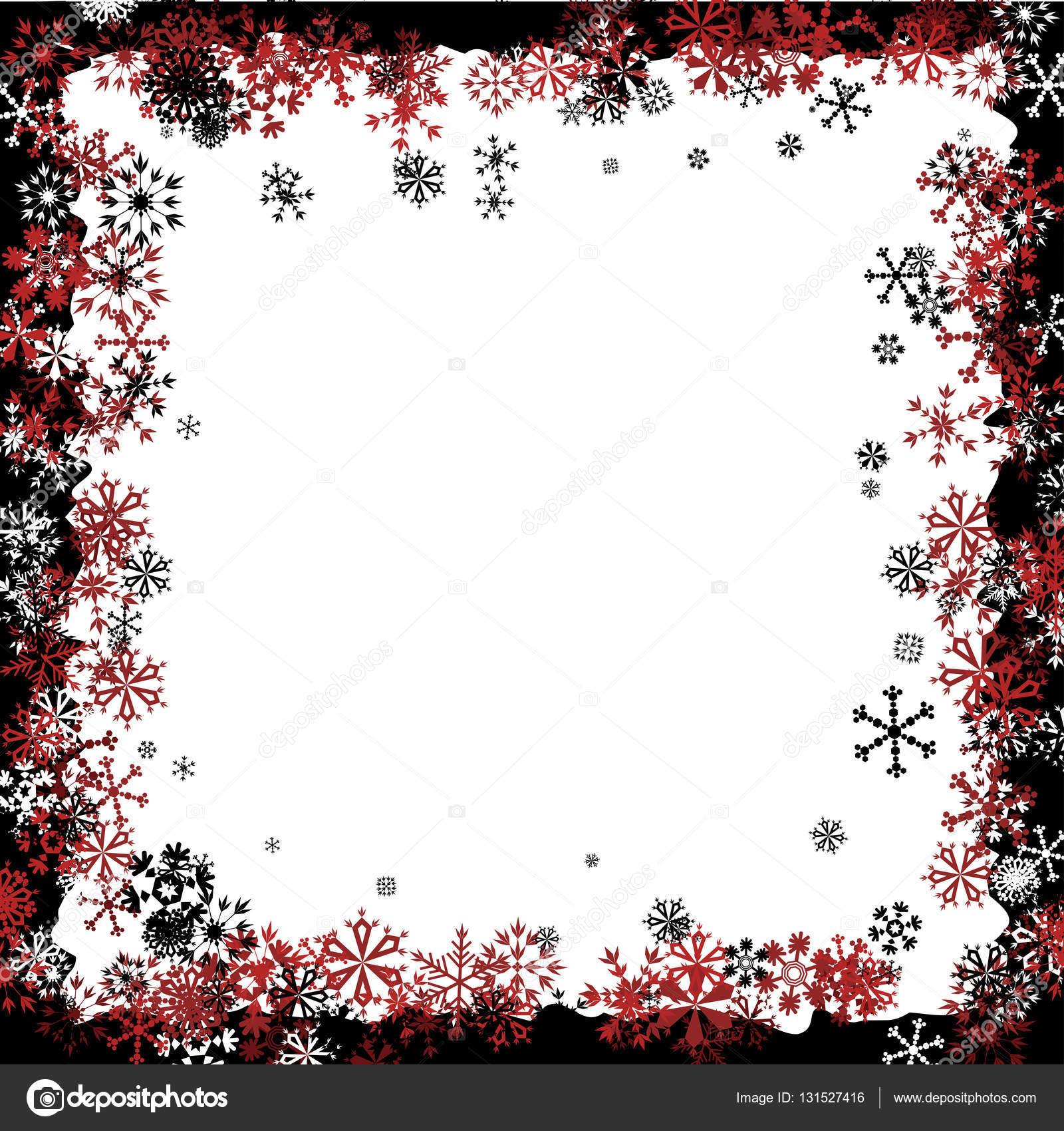 weihnachten rahmen mit schneeflocken stockvektor robisklp 131527416. Black Bedroom Furniture Sets. Home Design Ideas