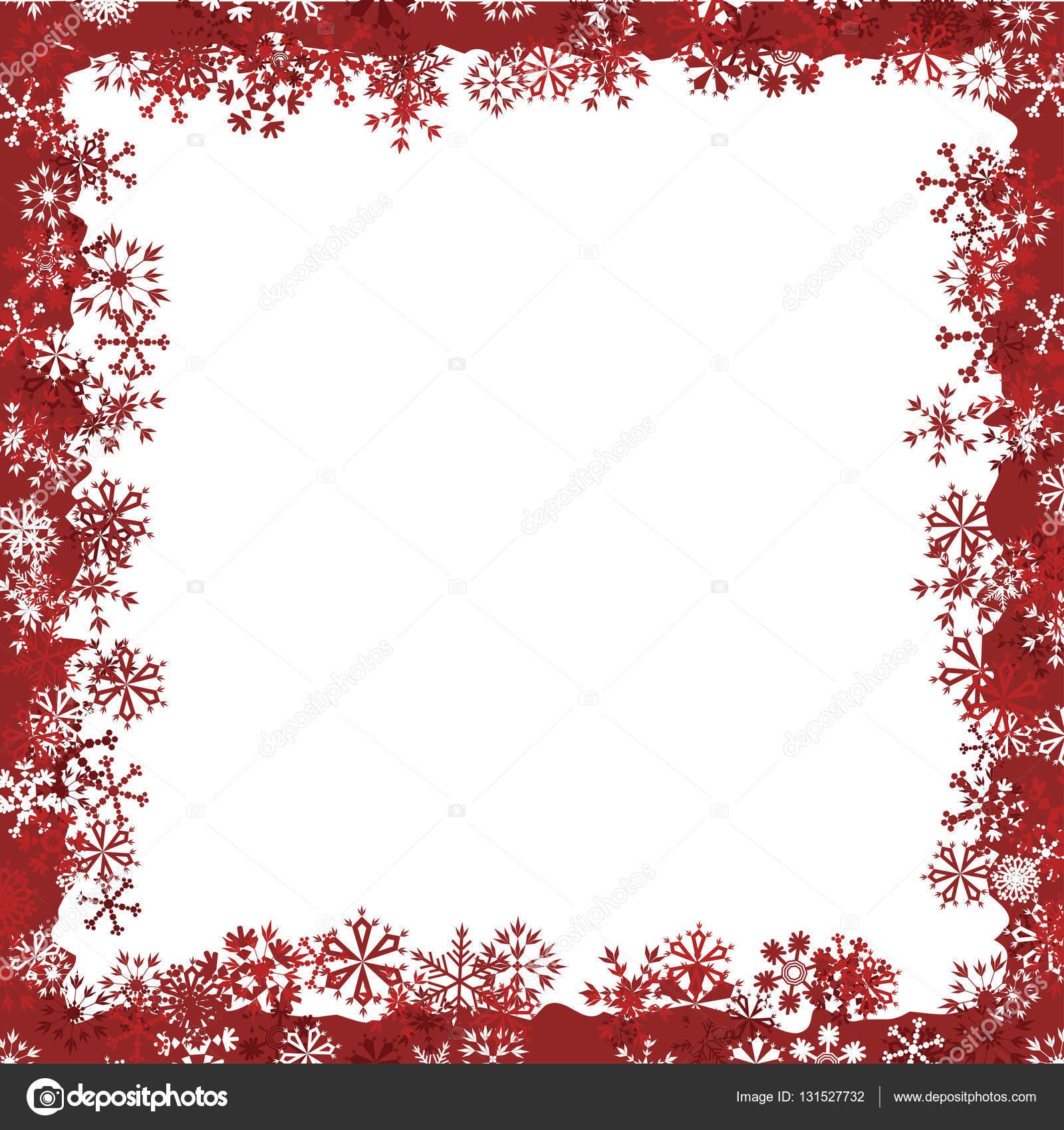Cornici Di Natale.Cornice Di Natale Con Fiocchi Di Neve Vettoriali Stock