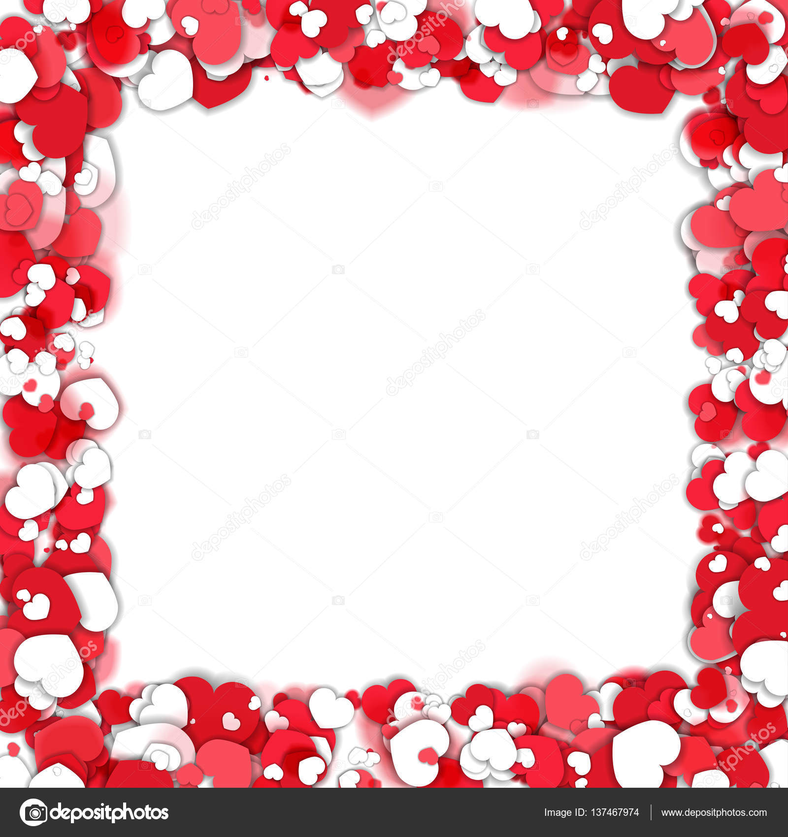 Valentine day frame with hearts — Stock Vector © robisklp #137467974