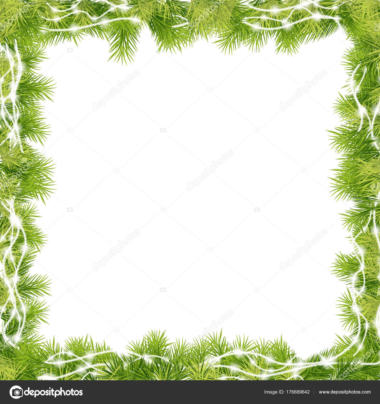 Marcos Para Fotos De Arbol De Navidad.Marco Arbol Abeto Para Navidad Vector De Stock C Robisklp