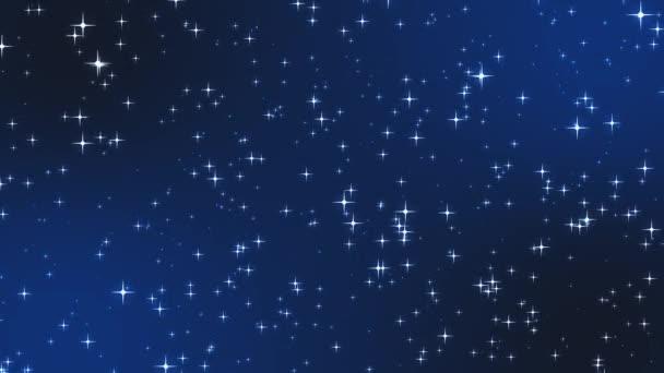 Absztrakt ragyogó csillag részecskék Mozgó háttér Animáció
