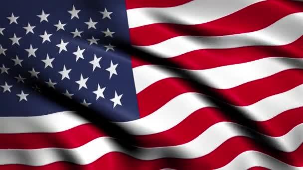 Realisztikus 3D hurok USA zászló integetett a szélben