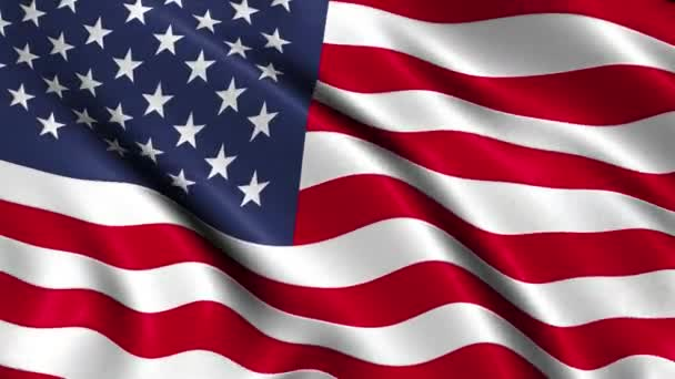 Realistic 3d looping USA flag waving in the wind