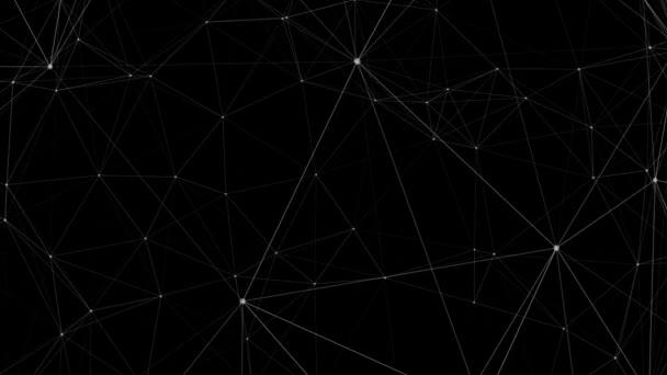 Smyčka Plexus připojení pozadí bílá na černém pozadí