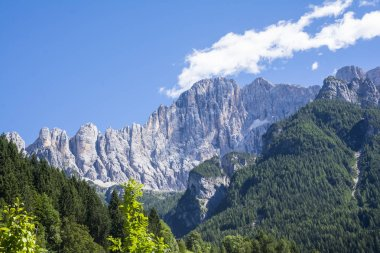 Italian dolomite during a sunny day
