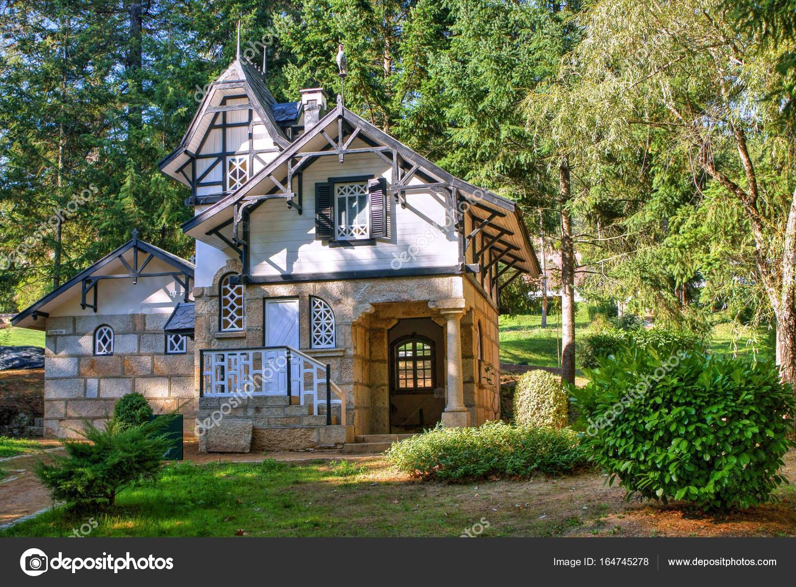House in the garden, Vidago, Portugal